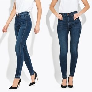 AYR the Riser Skinny High Rise Distressed Jeans